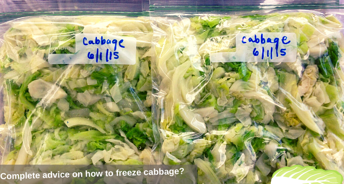 Complete advice on how to freeze cabbage?