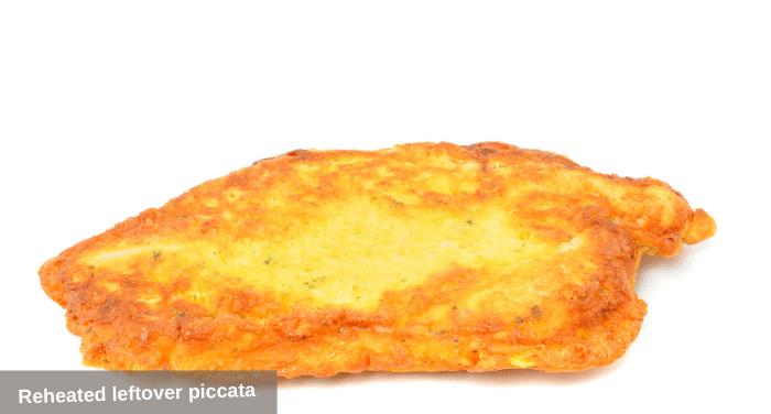 Reheated leftover piccata