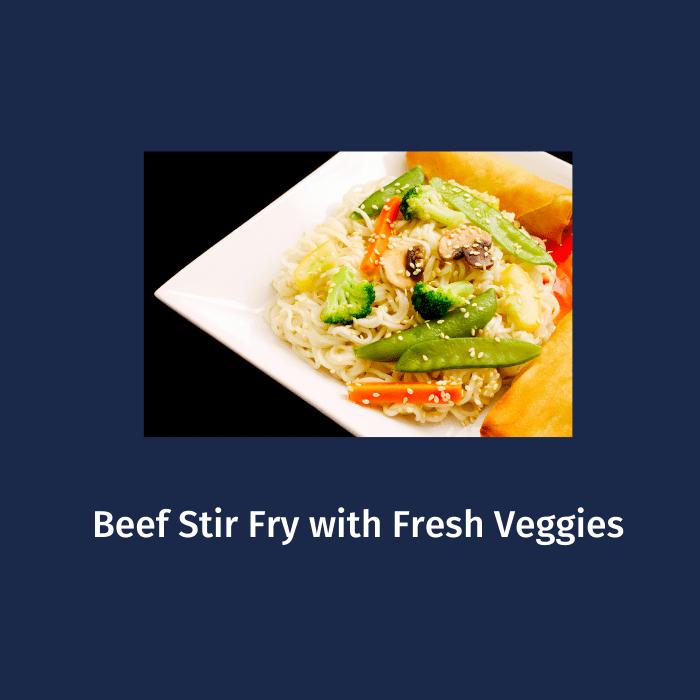 Beef Stir Fry with Fresh Veggies