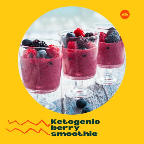 Ketogenic berry smoothie