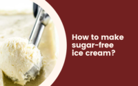 How to make sugar-free ice cream?